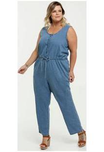 Macacão Feminino Jeans Plus Size Marisa