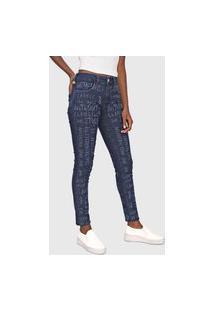 Calça Jeans Lez A Lez Skinny Lettering Azul