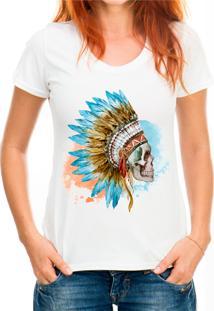 Blusa Shirt Deads Indian Skull 2 Madboss Branca