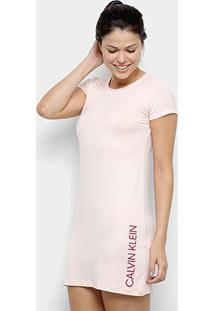 Camisola Calvin Klein Viscolight Feminina - Feminino-Rosa Claro