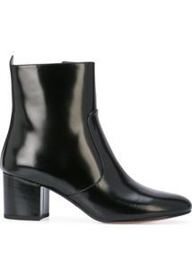 Coach Ankle Boot 'Juliet' De Couro - Preto