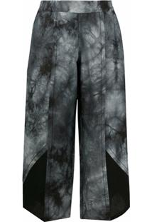 Stagni 47 Calça Cropped Tie-Dye - Cinza