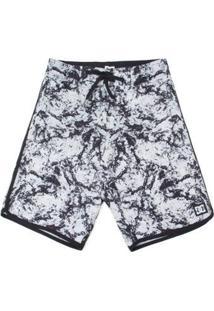 Bermuda Juvenil Estampada Dc Shoes - Masculino-Branco