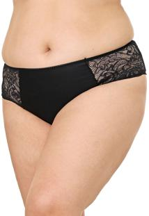 Calcinha Calvin Klein Underwear Caleçon Renda Preta