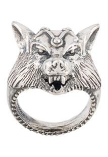 Emanuele Bicocchi Wolf Ring - Prateado