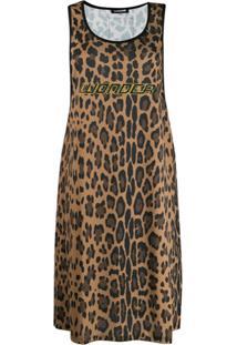 Roberto Cavalli Vestido Wonder Com Estampa Leopardo - Neutro