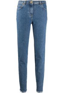 Versace Calça Jeans Reta - Azul