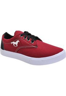 Tênis Polo Sarja Cavalo - Masculino-Vermelho