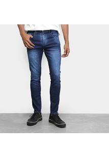 Calça Jeans Tbt Jeans Used Estonada Masculina - Masculino-Azul