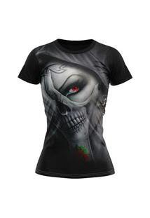 Camiseta Feminina Lucinoze Camisetas Manga Curta Dama Preta