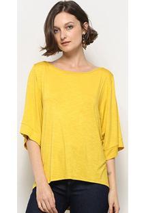 Blusa Mercatto Feminina - Feminino-Amarelo