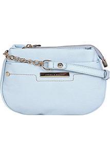Bolsa Couro Jorge Bischoff Mini Bag 2 Divisões Feminina - Feminino-Azul Claro