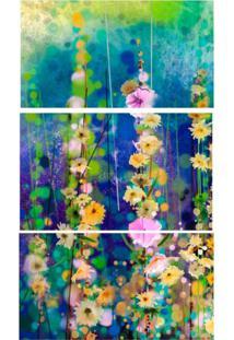 Quadro Decorativo Iv Flores Estampado