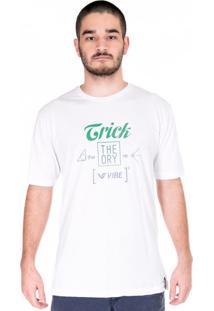 Camiseta Vibe Madeira Decote Redondo Branco