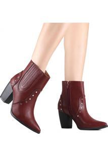 Bota Via Marte Country Ankle Boot 19-6002 Vermelho
