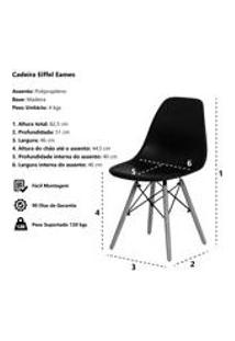 Kit 2 Cadeiras Charles Eames Eiffel Verde Base Madeira Sala Cozinha Jantar