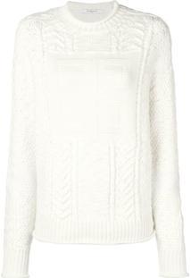 Givenchy Suéter De Tricô Com Logo - Branco