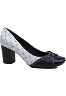 Sapato Feminino Jorge Bischoff Scarpin Salto Grosso