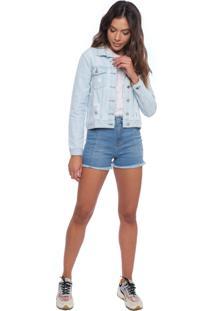 Jaqueta Feminina Azul Jeans