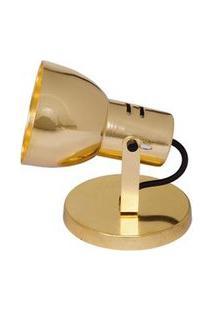 Spot Bocal Largo De Sobrepor Para 1 Lâmpada 60W Dourado Auremar