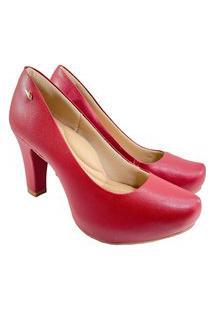 Scarpin Dakota Pelica Fosco Feminino - Vermelho Escuro