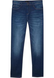 Calça Dudalina Premium Washed Blue Tank 3D Jeans Masculina (Jeans Medio, 44)