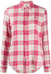 Polo Ralph Lauren Camisa Flanelada Xadrez - Vermelho