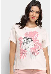 Camiseta Cantão Local Sisters Feminina - Feminino-Bege