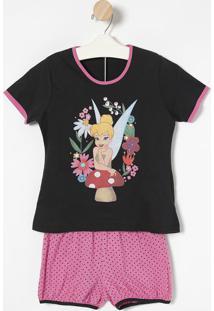 "Pijama ""Tinker Bell"" - Preto & Rosalupo"