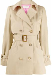 Alexander Mcqueen Trench Coat Curto - Neutro