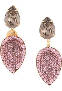 Melissa Kandiyoti Embellished Drop Earrings - Dourado