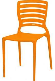 Cadeira Sofia Vazado Horizontal Polipropileno Laranja 17271 - Sun House