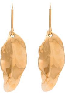 Marni Par De Brincos Com Detalhe De Folha - Dourado
