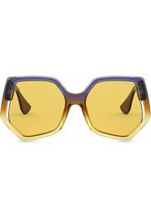 Miu Miu Eyewear Óculos De Sol Oversized La Mondaine - Amarelo