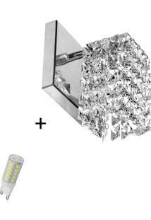 Arandela De Cristal Legitimo Clearwall Com Lã¢Mpada 6000K (Br - Prata - Dafiti