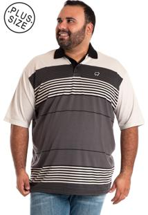 ... Camisa Polo Konciny Plus Size Cinza b79043e2a95b8