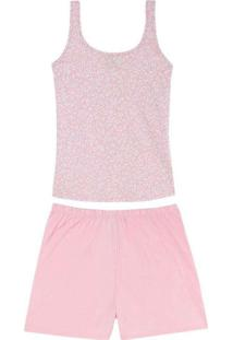 Pijama Feminino Malwee 1000085592 Bj24C-Rosa/Estam