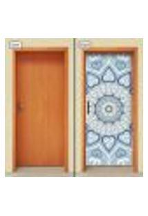Adesivo Decorativo De Porta - Mandala - 1838Cnpt