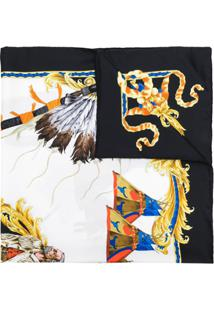 Versace Echarpe De Seda Estampada - Estampado