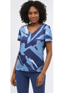 Blusa Com Tiras - Azul & Brancascalon