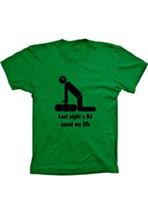 Camiseta Baby Look Lu Geek Dj Saved Life Verde