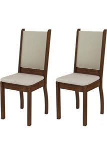 Kit 2 Cadeiras RusticE CremaMadesa4238