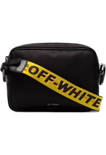 Off-White Bolsa Transversal Com Logo - Preto