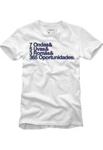 Camiseta 365 Oportunidades Reserva Masculina - Masculino-Branco