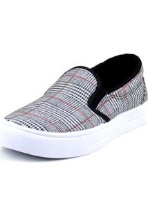 Tenis Tag Shoes Xadrez Príncipe De Gales Preto