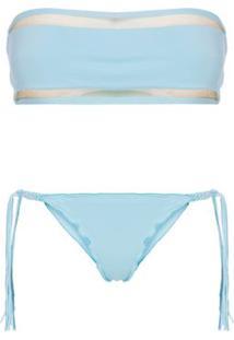 Calcinha Ripple Macrame Hype Beachwear - Azul