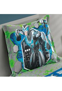 Porta Travesseiro Estampado Com Barras Laterais Max Steel 1 Peça - 100% Algodão - Dohler