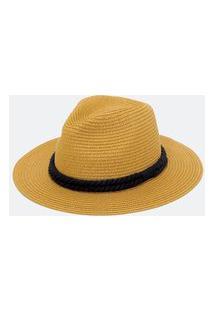 Chapéu Panamá De Palha Com Corda Trançada | Bossa Nossa | Preto | U