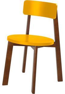 Cadeira Lina Cor Cacau Com Amarelo - 31530 - Sun House
