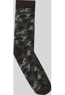 Meia Camuflada Verde Militar